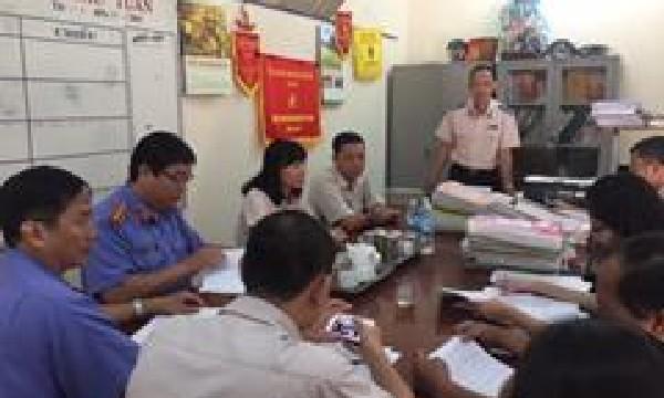 VKSND tỉnh Khánh Hòa phúc tra kết quả thực hiện kết luận trực tiếp kiểm sát năm 2016  tại Chi cục thi hành án dân sự huyện Cam Lâm