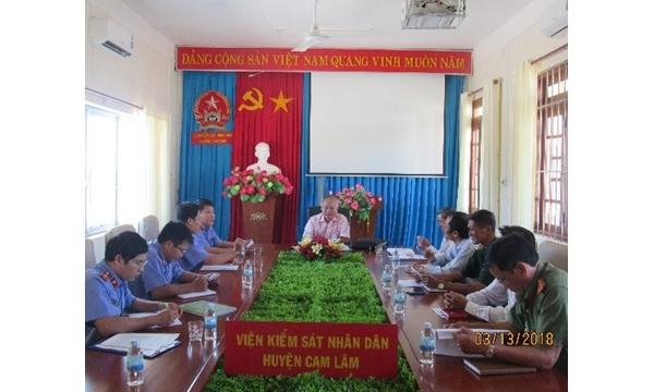 Ban pháp chế HĐND huyện giám sát tại VKSND huyện...