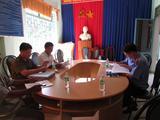 VKSND huyện Khánh Vĩnh kiểm sát trực tiếp công tác thi hành án hình sự tại Ủy ban nhân dân xã Khánh Bình, huyện Khánh Vĩnh, tỉnh Khánh Hòa